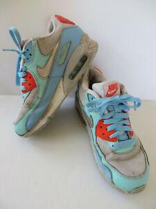 Details zu NIKE Air Max ° gebr. Sneakers Gr. 35,5 weiß blau Mädchen Schuhe Halbschuhe Boots