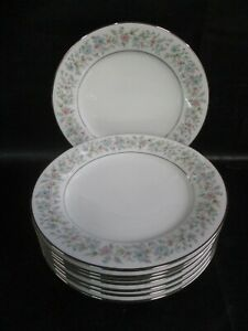 EIGHT Noritake BLYTHE Salad Dessert Plates 8 1/4 Inches MINT! (AD)