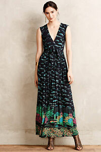 Image Is Loading Anthropologie Maxi Dress Long Tail Maore Party Evening