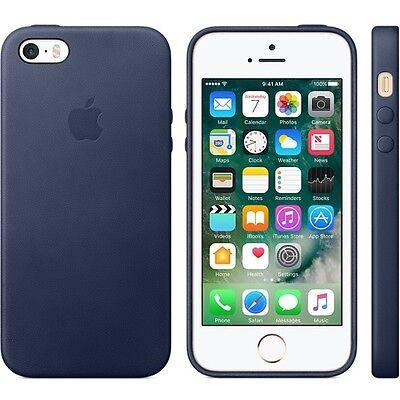Genuine Apple Original Leather Case/Cover iPhone 5/5S/SE MMHG2ZM/A Midnight Blue