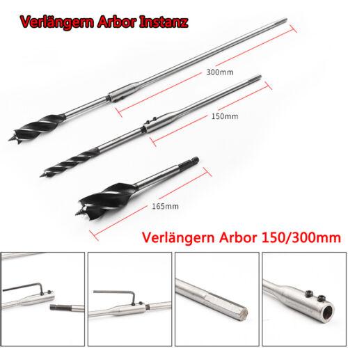 Holzbearbeitung Bohren 10mm-35mm Holzbohrer 4 Schlitz 4 Flöte Sechskant Schaft