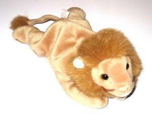 58a14e0ba58 Ty Beanie Baby Original Roary The Lion Retired P E Pellets 1996