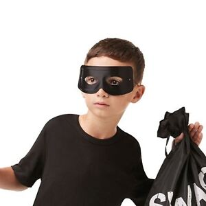 Image Is Loading Black Domino Eye Mask Zorro Thief Burglar Robber