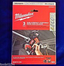 "Milwaukee 48-39-0572  27""x1/2"" M12 18T Sub-Compact Portable Band Saw Blade 3 Pk"