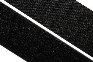 nähbar weiß Meterware 50mm Klettband zum annähen schwarz