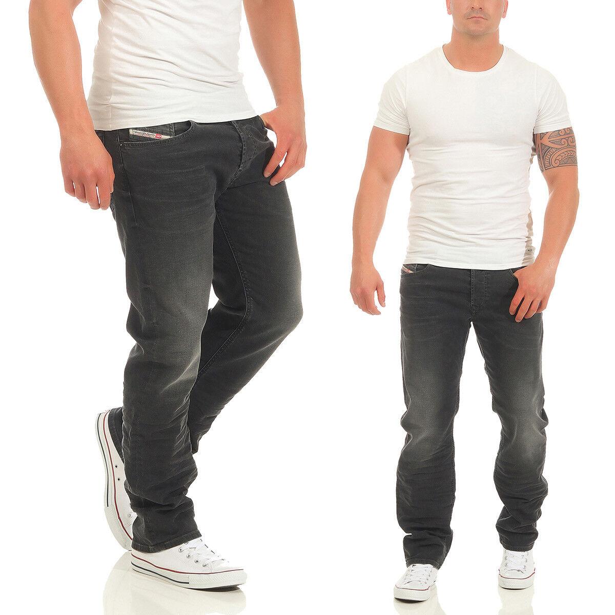 Diesel Herren Jeans Waykee R9F66 Stretch Hose Regular Straight Straight Straight grau Anthrazit | Bunt,  | Good Design  9638c0