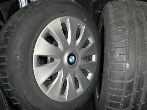 4-Gebraucht-Stahl-Raeder-BMW-3er-mit-205-60R-16-92W-Hankook-S1-Evo2-6mm
