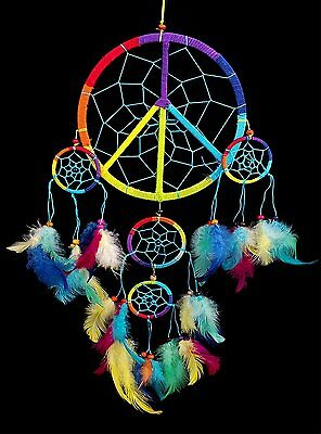 Handmade Dream Catcher with feather wall hanging decoration ornament-5ry