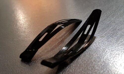 METAL BENDY SNAP HAIR CLIPS Black Silver Gold Kid Hair Slides Sleepy School Grip