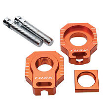 Bolt Chain Adjusters Axle Blocks Black Husaberg All 05 06 07 08 09 10 11 12 NEW