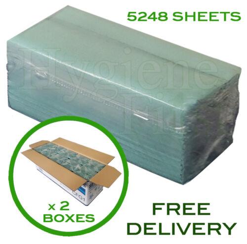 1 capas de la página desplegable Verde//C-Fold toallas de mano desechables de papel 5248 Hojas
