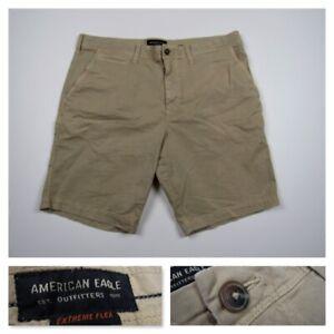 American Eagle Extrema Flexion Ajustado Para Hombre Workwear Caqui Pantalones Casuales Talla 36 Ebay