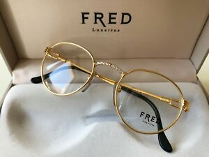 1967afba1a8e68 vintage FRED OURAGAN eyeglasses unisex France rare gold plated Cup ...