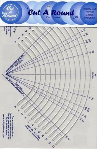 CUT A ROUND TOOL QUILTING RULER, From Phillips Fiber Art NEW