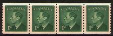 Canada 1950 Sc295 $ 2.6  Mi256D 2.8 MiEu  1 Strip of 4  mnh  George VI