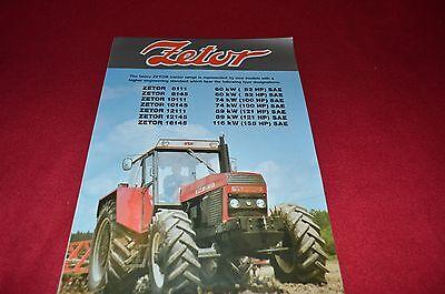 Zetor 16145 12145 12111 10145 10111 8145 8111 Tractor Dealer/'s Brochure LCOH
