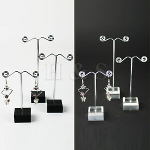 Set-of-3-Earrings-Jewellery-Shop-Display-Stand-Holder-Showcase-Storage-Box-Case