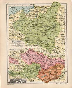 1934 map poland czechoslovakia austrai hungary budapest prague image is loading 1934 map poland czechoslovakia austrai amp hungary budapest gumiabroncs Choice Image