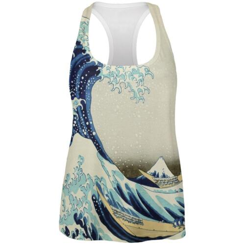 Great Wave Tsunami Japanese Painting All Over Womens Work Out Tank Top