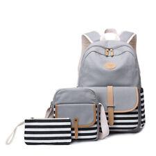 3pcs set Canvas Women Backpack Bookbag Laptop Bagpack Travel School Bag for  Girl d914a4de5a