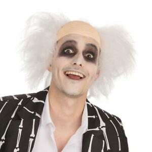 Crazy Guy Wig Halloween Adults Fancy Dress Beetlejuice Costume Party Accessory 5051090067522 Ebay