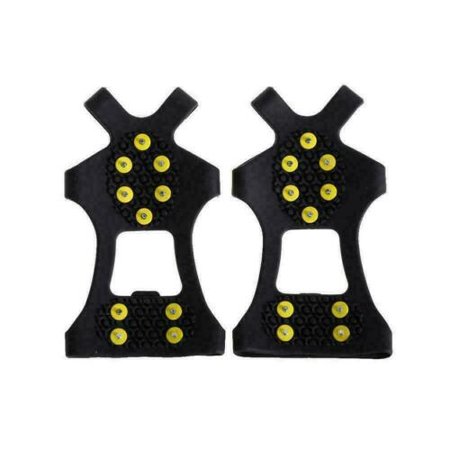 10-stud Universal Ice No Slip Snow Shoe Spikes Grips Hot Quality Cleats Cra B7R4