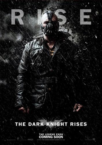 STICKER AUTOCOLLANT POSTER A4 FILM BATMAN THE DARK KNIGHT RISE.PERSONNAGE BANE 2