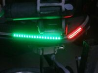 Pontoon Bass Boat Red & Green Led Lighting Navigation Lights Marine Sun Tracker