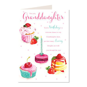 Image Is Loading Granddaughter Cup Cakes Amp Word Design Lovely Bright