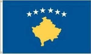 92 CM X 152 CM NEW KOSOVO 3 X 5 FEET LARGE COUNTRY FLAG BANNER ... .