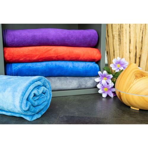 60x120cm Duschtuch Badetuch Saunatuch Hellblau 3 Stück Mikrofaser-Handtuch
