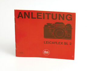 Leitz Wetzlar Anleitung in deutscher Sprache für die Leicaflex SL2
