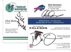 Buffalo Bills Offensive Coordinator Rick Dennison Signed Business