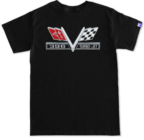 V Flag emblem Camaro 68 First generation 396 Turbo Jet Emblem Black T shirt
