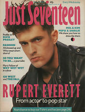 Just Seventeen Magazine 27 May 1987  Rupert Everett  Marti Pellow of Wet Wet Wet