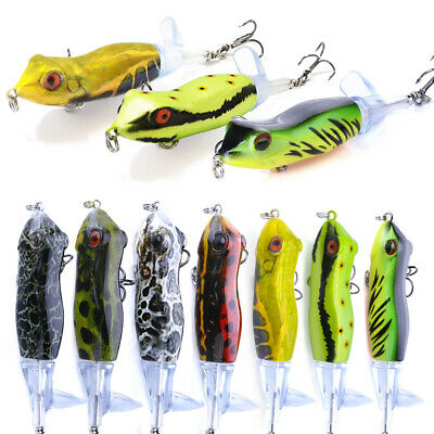 1pcs Fishing Topwater Lures Fishing Lure Rotating Tail Tackle Bait Pike F8S2