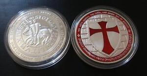 1-oz-Tempelritter-Medaille-Neusilber-Farbedition-Soldaten-Christi