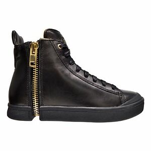 Diesel S-Nentish Men s Zip Round Leather High Top Fashion Sneakers ... f1911add77