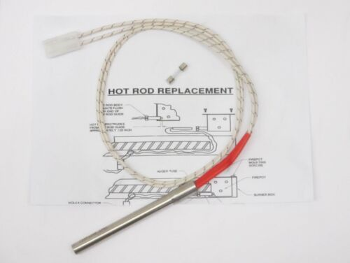 IGNITER//HOT ROD for TRAEGER PELLET STOVES INCLUDES FUSE AND INSTRUCTIONS