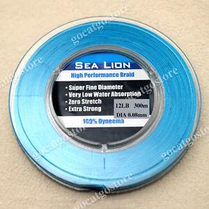 NEW-Sea-Lion-100-Dyneema-Spectra-Braid-Fishing-Line-300M-12lb-Blue