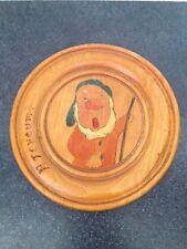 Vintage French Snow White & the Seven Dwarfs 8' Wood Plaque- Sneezy
