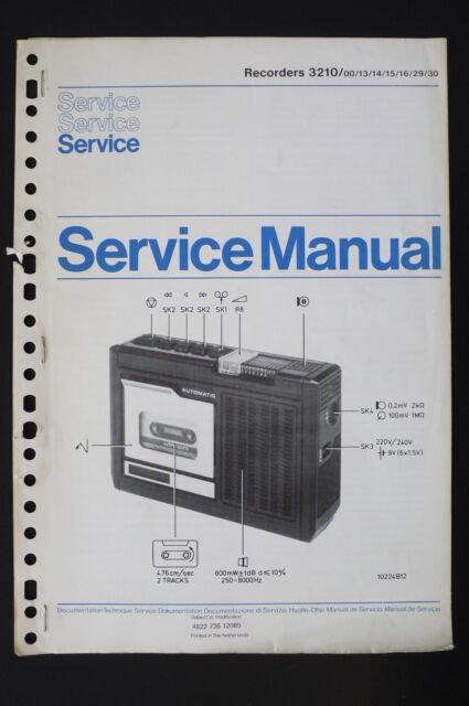 philips recorders 3210 original service manual/manual/wiring diagram! o56