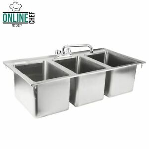 37-034-Three-Compartment-10-034-x-14-034-x-10-034-Bowl-Faucet-Stainless-Steel-Drop-In-Sink-3