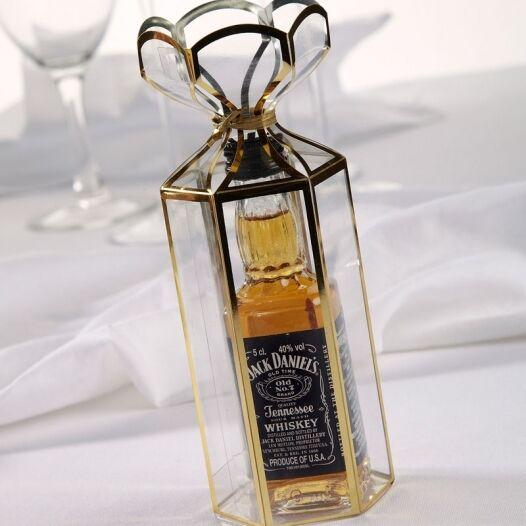 oro di tagliata in miniatura bottiglia di oro alcool LANTERNA scatole ricevimento di nozze favori ccdff8