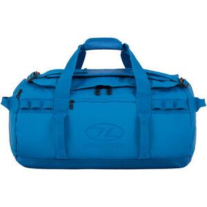 Highlander-Storm-Kitbag-45L-Duffle-Bag-Water-Resistant-Running-Gym-Backpack-Blue