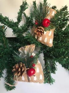 Addobbi Natalizi Juta.12 Sacchetti Di Juta Canapa Per Decorazioni Addobbi Regali Natale Confetti Ebay