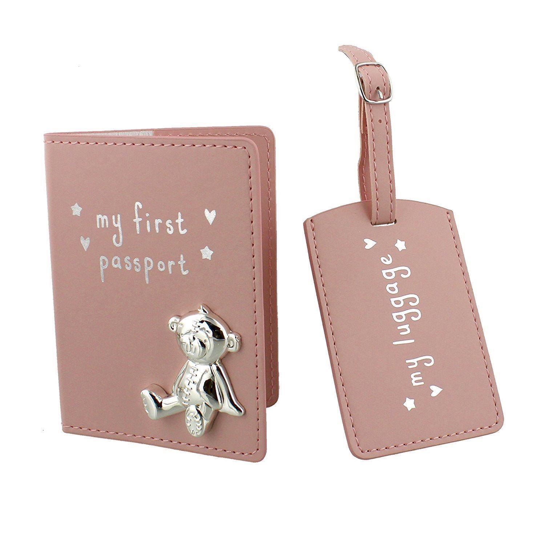 Mon Mon Mon premier Porte-passeport et De Bagages tag ensemble cadeau rose fille en coffret ed0d9a