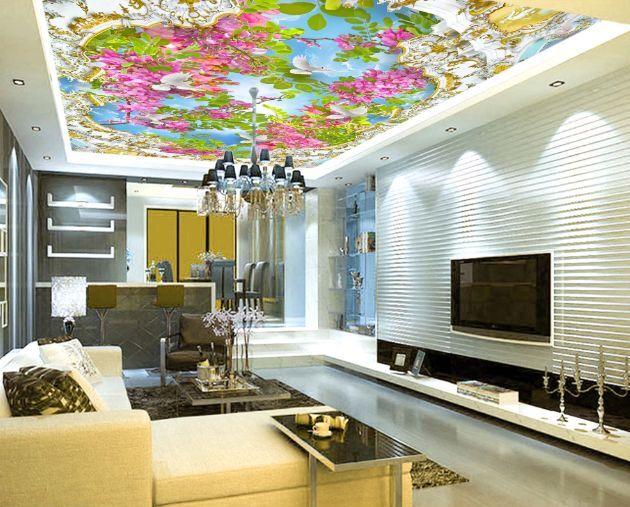 3D Beautiful Flower Tree WallPaper Murals Wall Print Decal Deco AJ WALLPAPER GB