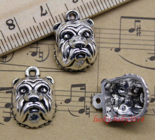 20pcs retro style Lovely Pug face alloy charms pendant 18x13mm