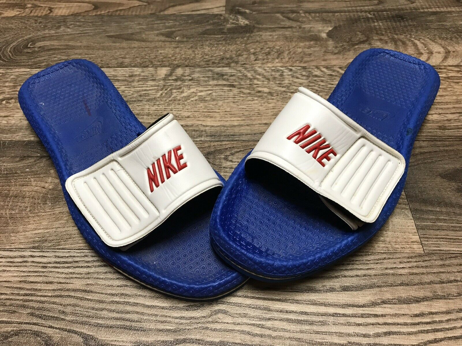 7ad3c2641e5 Vtg 70s 80s Nike Made In Taiwan Sandals Slides shoes Mens Size XL 12 - 13  ...